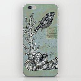 Vintage Shells iPhone Skin