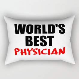 worlds best doctor funny saying Rectangular Pillow