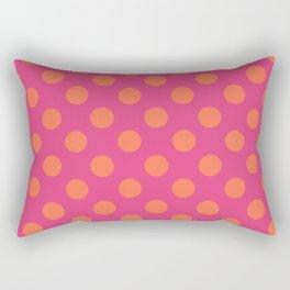 fuchia with orange polka dots Rectangular Pillow