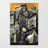 cityscape Canvas Prints featuring Cityscape by Chris Lord