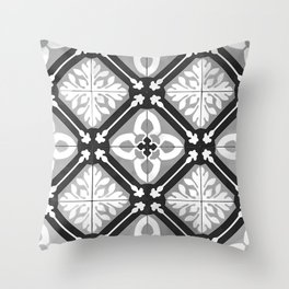 Floor Series: Peranakan Tiles 15 Throw Pillow
