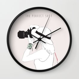 The Perfect Shot Wall Clock