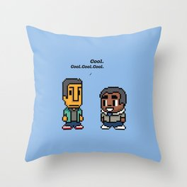 Troy and Abed - Community - TV show Throw Pillow