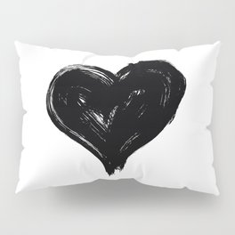 Grunge Heart Pillow Sham