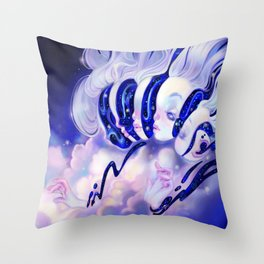 Moon Faces Throw Pillow