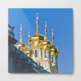 Catherine Palace Spires - Pushkin - Russia Metal Print