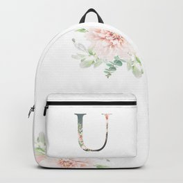 U - Floral Monogram Collection Backpack
