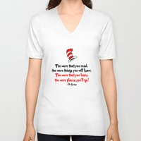 dr seuss V-neck T-shirts featuring The Dr.'s Advice. by Travellustrator