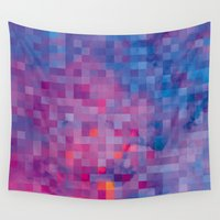pixel Wall Tapestries featuring Pixel by Marta Olga Klara