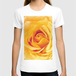 Gold Rose Bud- Yellow Roses and flowers T-shirt