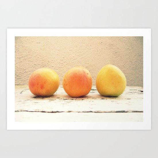 3 apricots Art Print