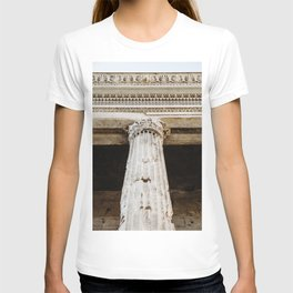 Detail of entablature and column from The Temple of Hadrian, in Rome, Italy. T-shirt
