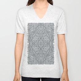 Ab Lace Black and Grey Unisex V-Neck