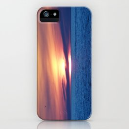 Sunset over Blue Waters iPhone Case