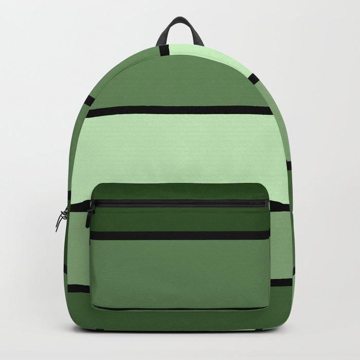 Green Stripes Backpack