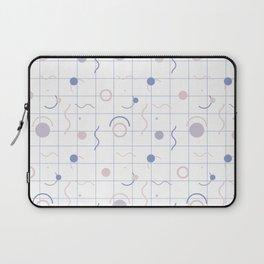 Geometric Tiles 80's Pastel Colors Pattern Laptop Sleeve