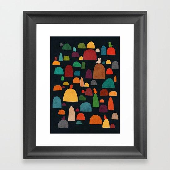 The zen garden Framed Art Print