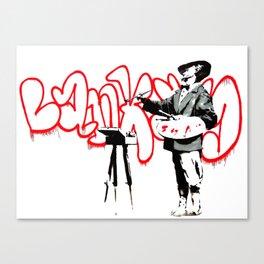 Banksy The Painter Velasquez, Portobello Road, Street Art, Grafitti, Artwork, Design For Men, Wom Canvas Print