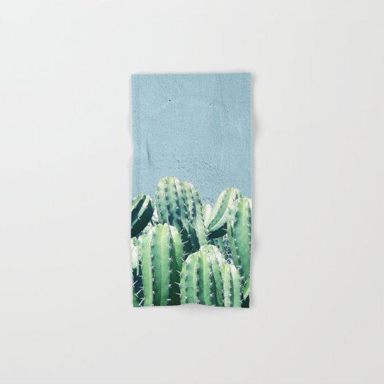 Cactus & Teal #society6 #decor #buyart Hand & Bath Towel