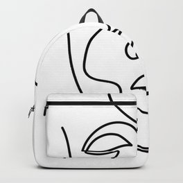 Abstract minimalistic continuous line drawing Backpack