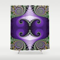 headdress Shower Curtains featuring The Empress Headdress by Mary Machare