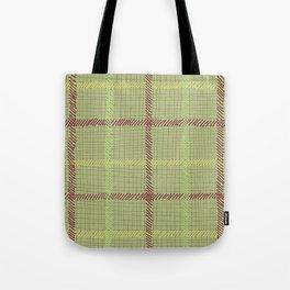 Well Plaid (GREEN) Tote Bag