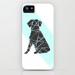 Geometic dog iPhone Case