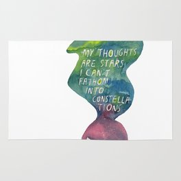 Thoughts Are Constellations Rug