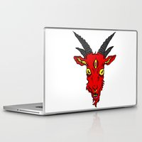 baphomet Laptop & iPad Skins featuring Red Devil Goat by Andrea Croak
