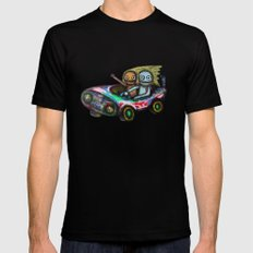 A trip by car Mens Fitted Tee 2X-LARGE Black
