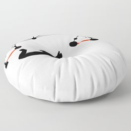 the Trapeze Floor Pillow