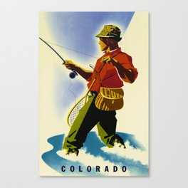 Colorado Fly Fishing Travel Canvas Print