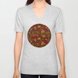 Autumn Pumpkins Unisex V-Neck