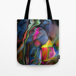 Liquid Colors by Artist McKenzie http://www.McKenzieArtStudio.com Tote Bag
