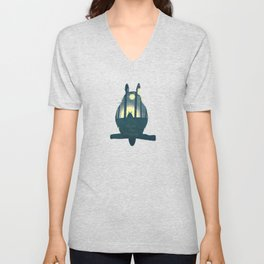 Totoro ' s Dream  Unisex V-Neck