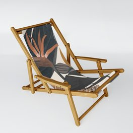 Abstract Tropical Art III Sling Chair