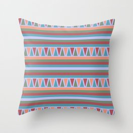 Stripes and Triangles African Pattern Throw Pillow