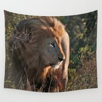 hunter Wall Tapestries featuring Hunter by Jessica Krzywicki