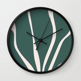Abstract Seaweed Wall Clock