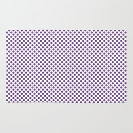 Royal Lilac Polka Dots Rug