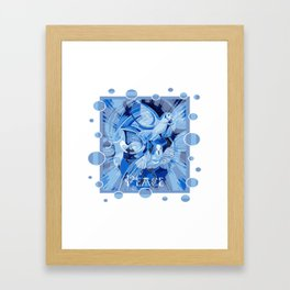 Dove With Celtic Peace Text In Blue Tones Framed Art Print
