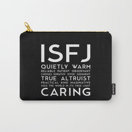 ISFJ (black version) Carry-All Pouch