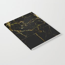 Golden Marble - Black and gold marble pattern, textured design Notebook