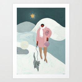 A Christmas Walk Art Print