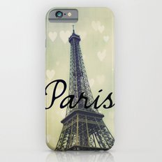 Paris Typography Eiffel Tower  iPhone 6s Slim Case