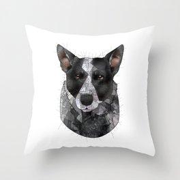 Shia Cattle Dog Throw Pillow