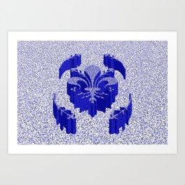 Florentine Blue Garden Art Print