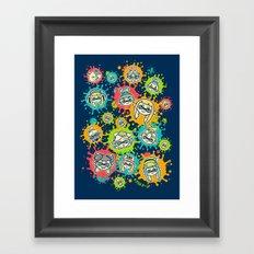Splat Festival Framed Art Print