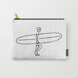 Long Board Surfer Sketch Carry-All Pouch