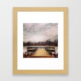 Lagoon in Humboldt Park Framed Art Print